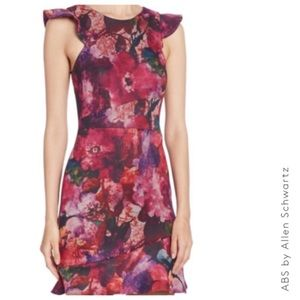 A•B•S Collection Sleeveless Floral Printed Dress